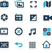 Media Interface Icons // Azure Series