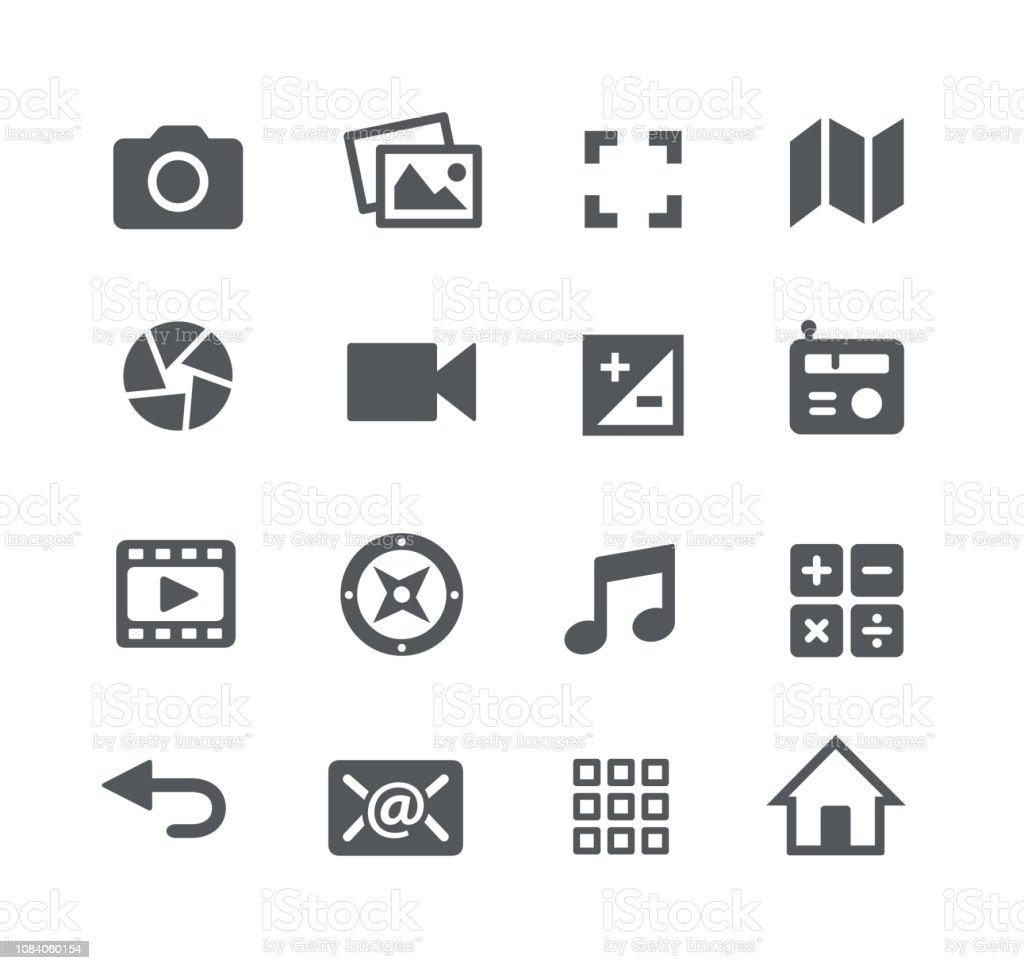 Media Interface Icons - Royalty-free Aplicação móvel arte vetorial
