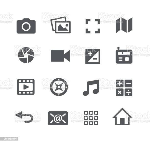 Icônes Dinterface Media Vecteurs libres de droits et plus d'images vectorielles de Album de photographies