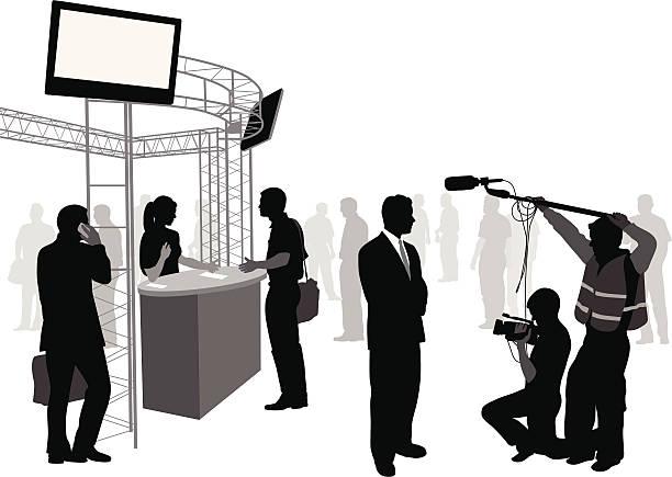 illustrations, cliparts, dessins animés et icônes de mediainterview - interview