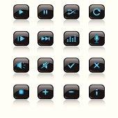 Media LED Icons Set ( blue ) -included ai, pdf, coreldraw & 300dpi jpg format