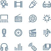 Vector Line icons set. One icon consists of a single object. Files included: Vector EPS 8, HD JPEG 3000 x 3000 px