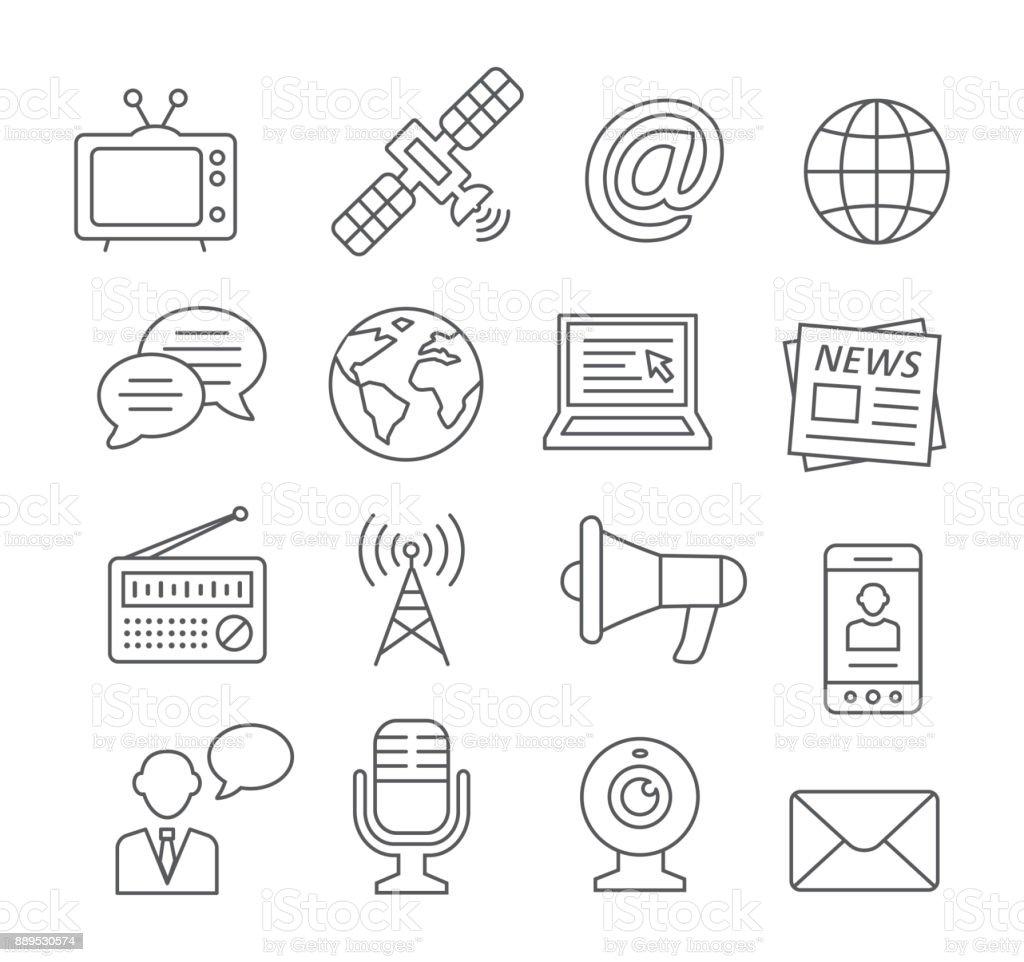 Media line icons