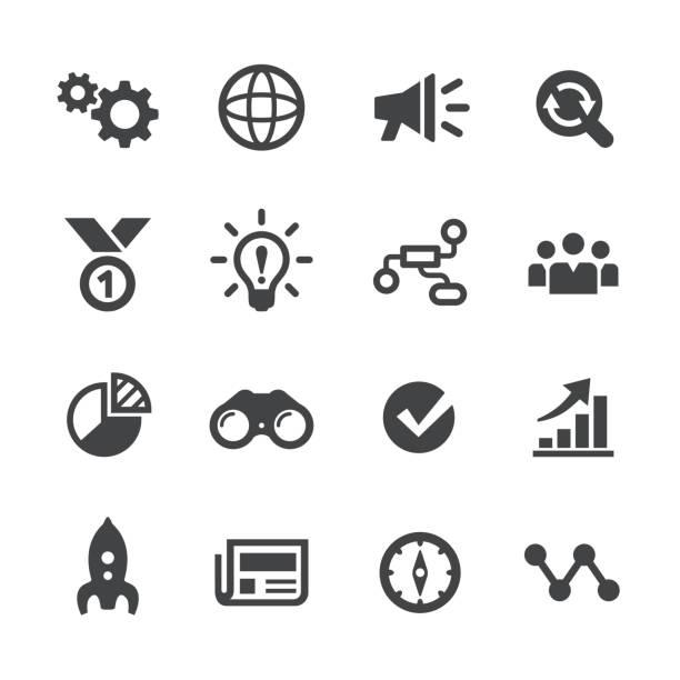 Media Marketing Icons Set - Acme-Serie – Vektorgrafik