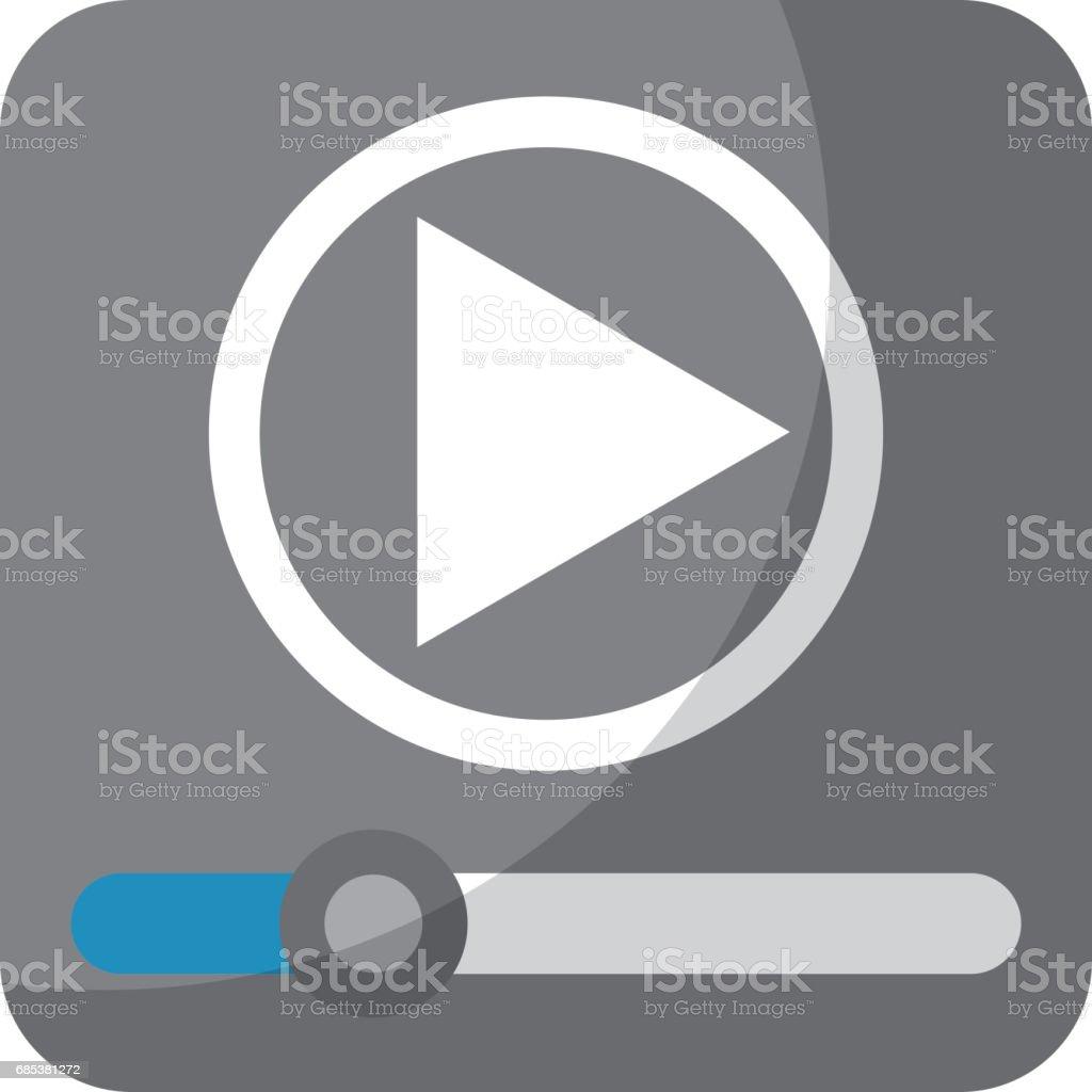 media player application icon media player application icon - arte vetorial de stock e mais imagens de aplicação móvel royalty-free