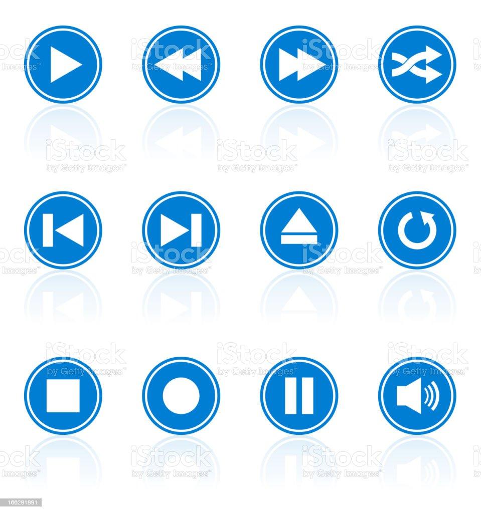 collection de boutons pour baladeur - Illustration vectorielle
