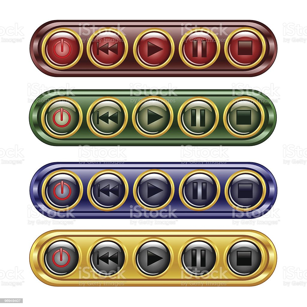 media player buttons royalty-free media player buttons stock vector art & more images of beginnings