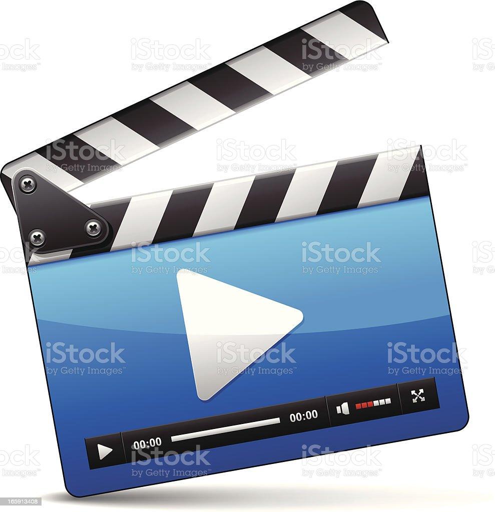 Media player icon Film Slate isolatd on white background. Activity stock vector