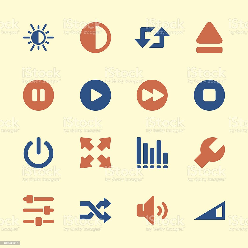 Media Player Icons - Color Series | EPS10 royalty-free media player icons color series eps10 stock vector art & more images of adjusting