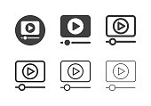Media Player Icons Multi Series Vector EPS File.