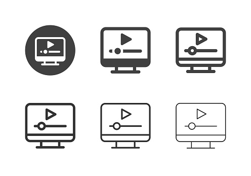 Media Player Icons - Multi Series
