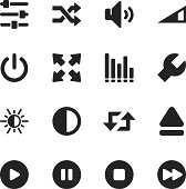 Media Player Silhouette Vector File Icons.