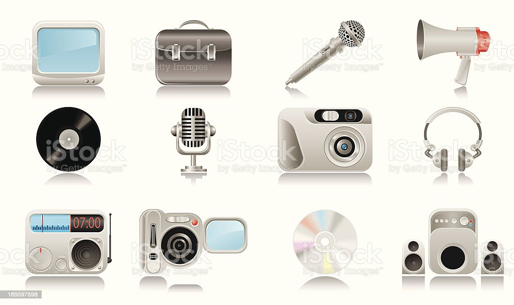 Media & Publishing icons royalty-free media publishing icons stock vector art & more images of arts culture and entertainment