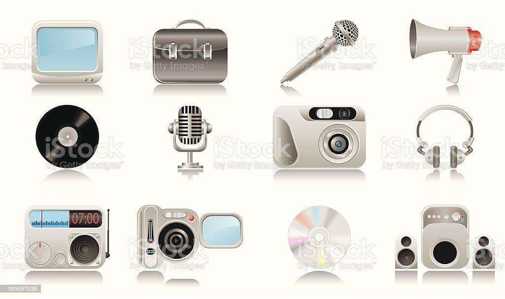 Media & Publishing icons royalty-free stock vector art