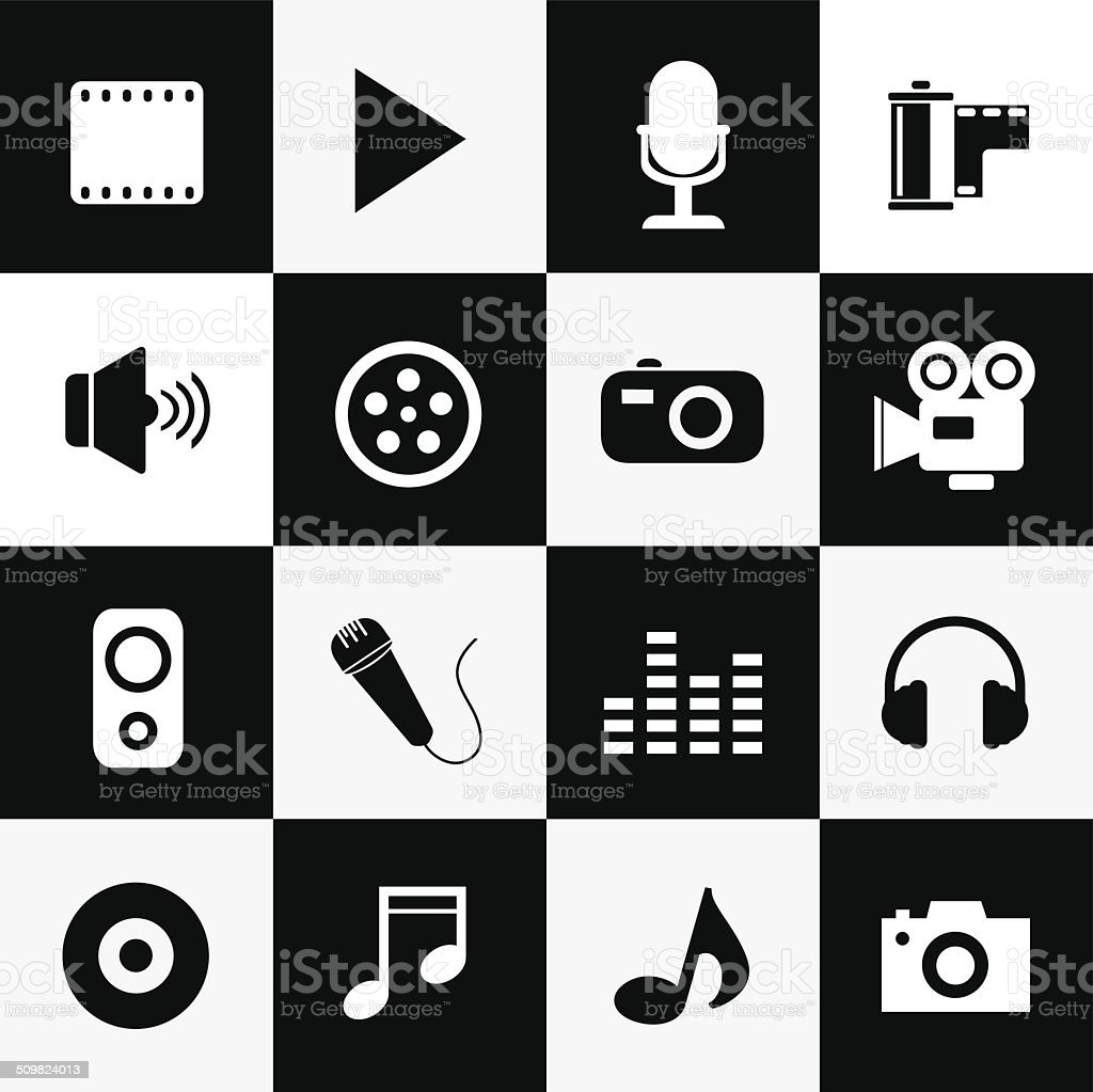 media symbol vector art illustration