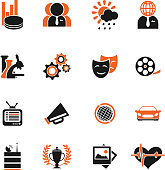 Media vector icon set