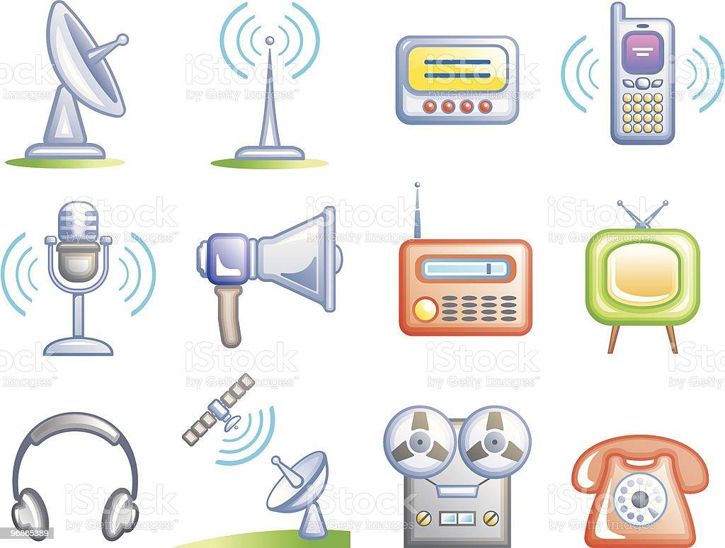 Media-Vektor-Icons-Set Lizenzfreies mediavektoriconsset stock vektor art und mehr bilder von antenne