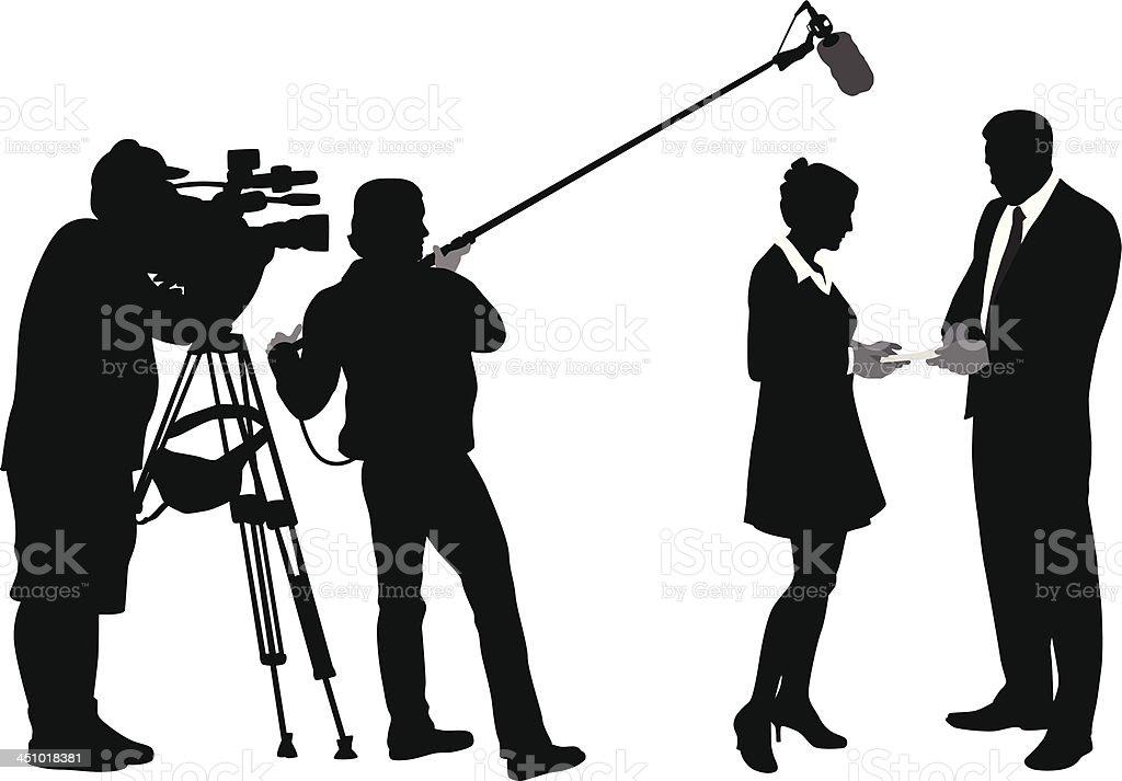 Media vector art illustration
