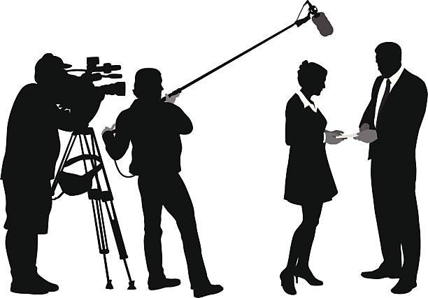 illustrations, cliparts, dessins animés et icônes de media - interview