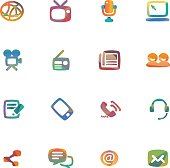 The vector file of media icon set.