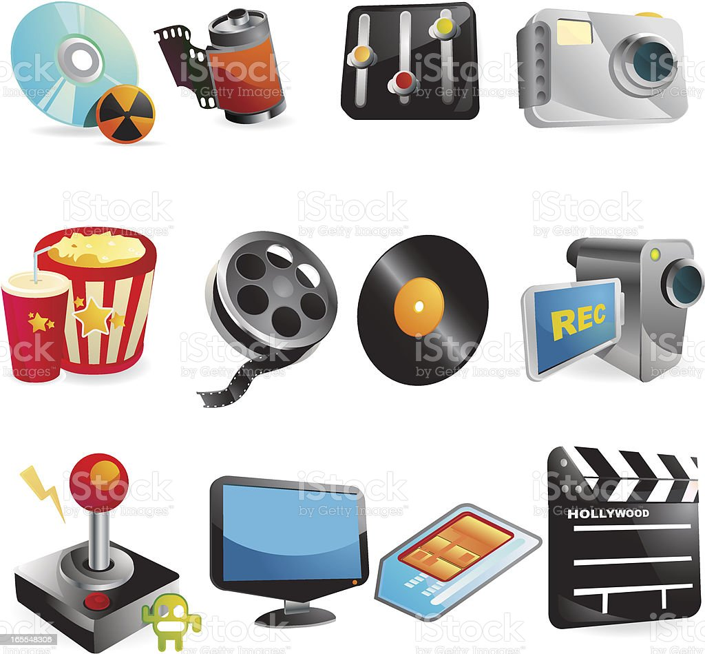 Media Web Icons royalty-free stock vector art