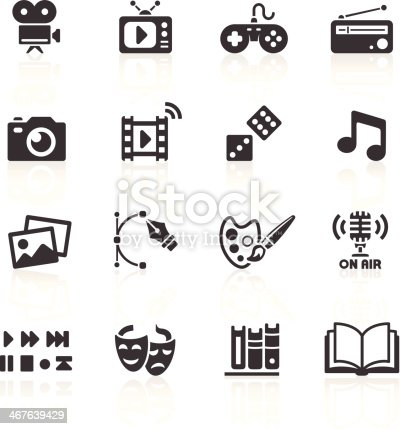Media & Web Icons. Layered & grouped for ease of use. Download includes EPS 8, EPS 10 and high resolution JPEG & PNG files.
