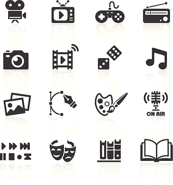 Media Web Icons Media & Web Icons. Layered & grouped for ease of use. Download includes EPS 8, EPS 10 and high resolution JPEG & PNG files. performing arts event stock illustrations