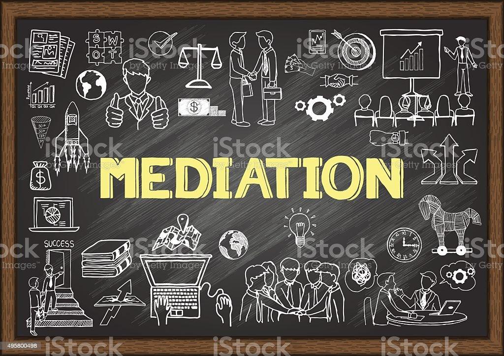 mediation vector art illustration