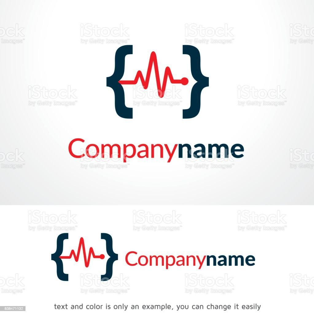 medic code symbol template design vector emblem design concept
