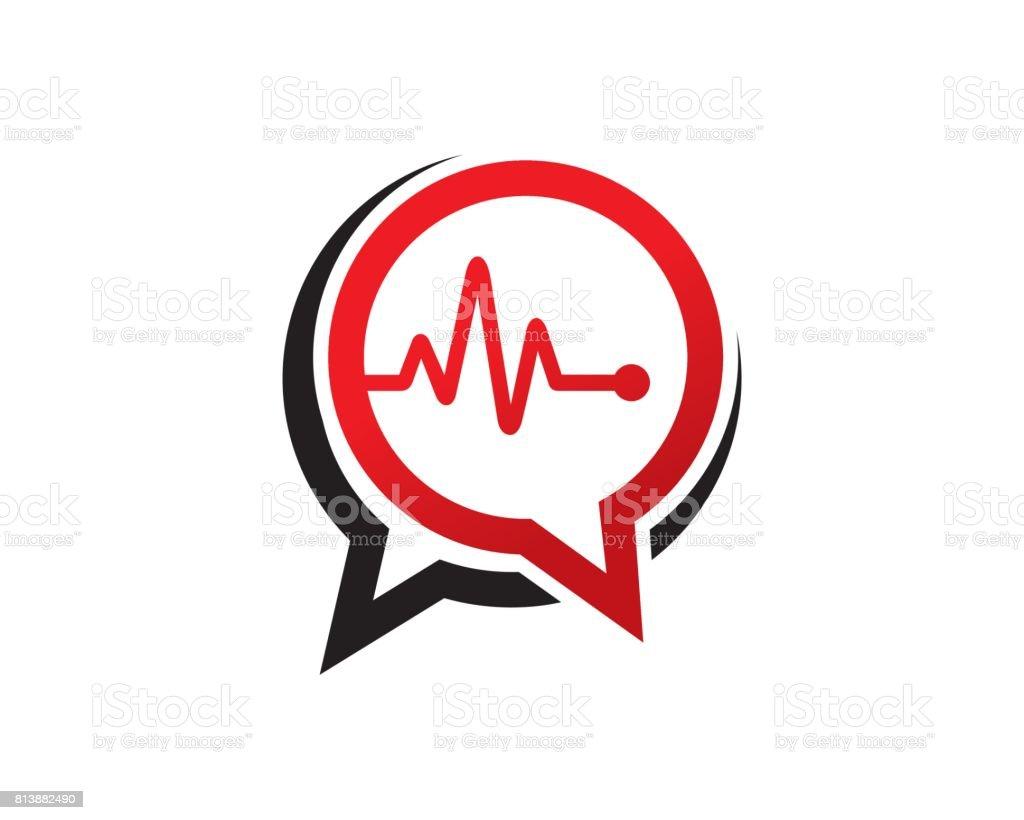 Medic charla símbolo plantilla diseño Vector, emblema, concepto, símbolo creativo, icono de diseño - ilustración de arte vectorial