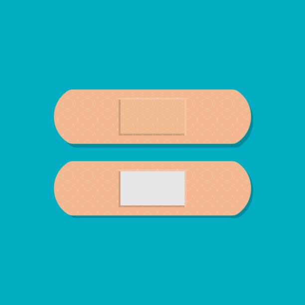 Medical adhesive bandage plasters isolated on background. Vector illustration. Medical adhesive bandage plasters isolated on background. Vector illustration. Eps 10. adhesive bandage stock illustrations