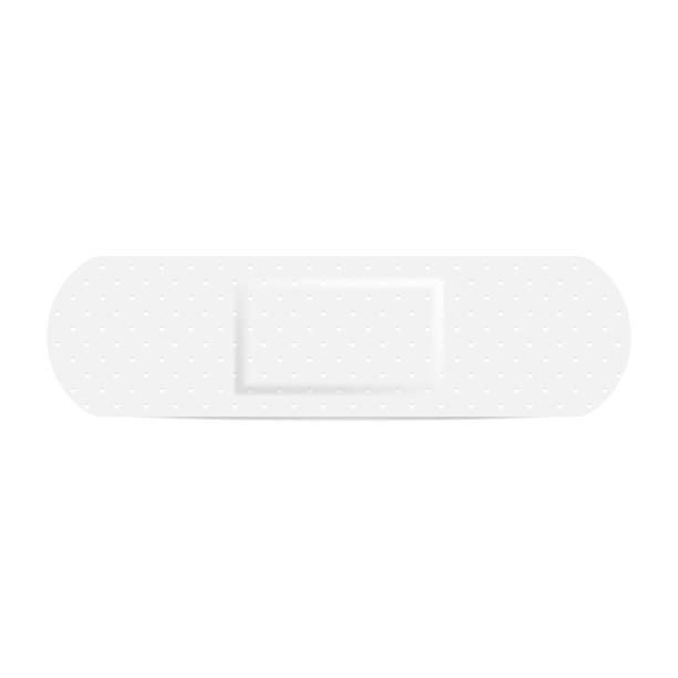 Medical adhesive bandage plasters isolated on white background. Vector illustration. Medical adhesive bandage plasters isolated on white background. Vector illustration. Eps 10. adhesive bandage stock illustrations