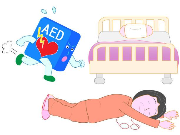medical aed vector art illustration