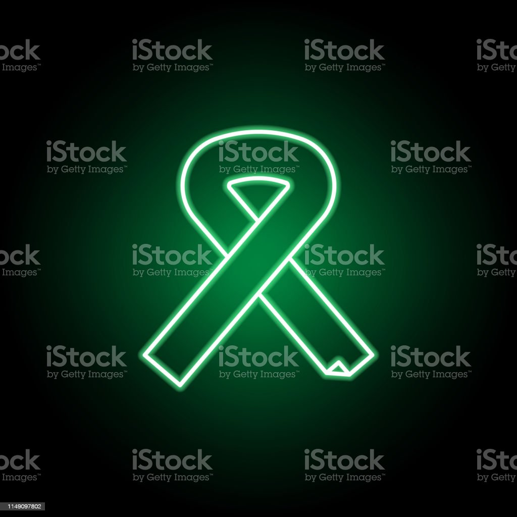 Medical, aids icon in neon style. Element of medicine illustration....
