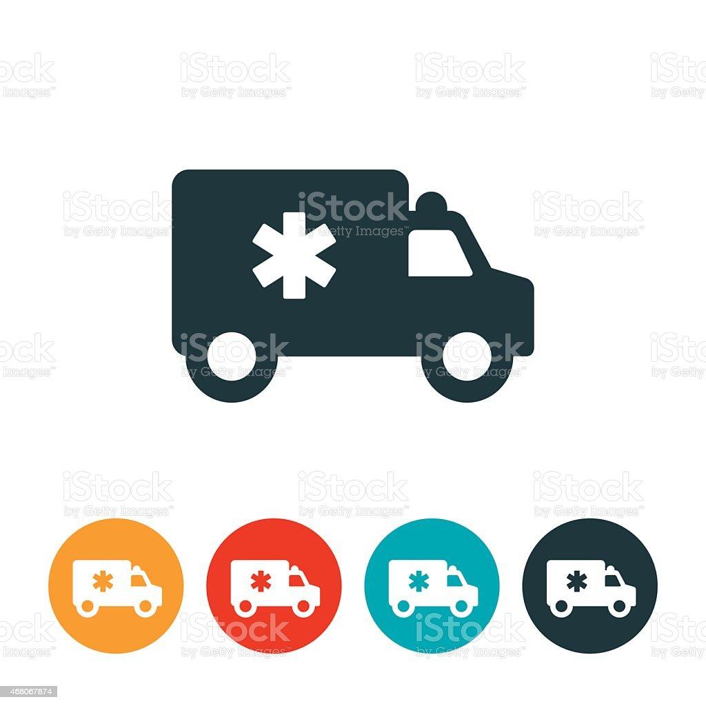 Medical Ambulance Icon vector art illustration