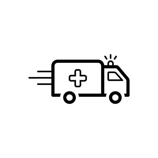 Medical ambulance Icon for ambulance, medical, car, transport ambulance stock illustrations