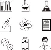 Medical and chemitry icons