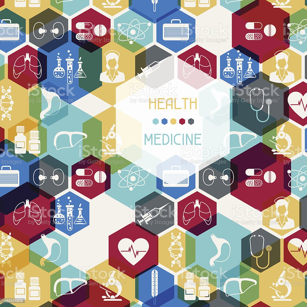 Medical and health care background. royalty-free stock vector art