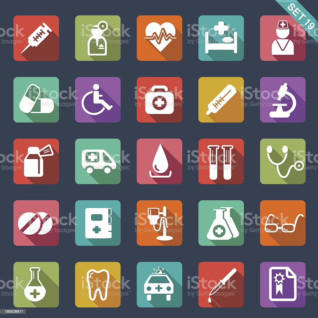 Medical and health care icons royalty-free stock vector art