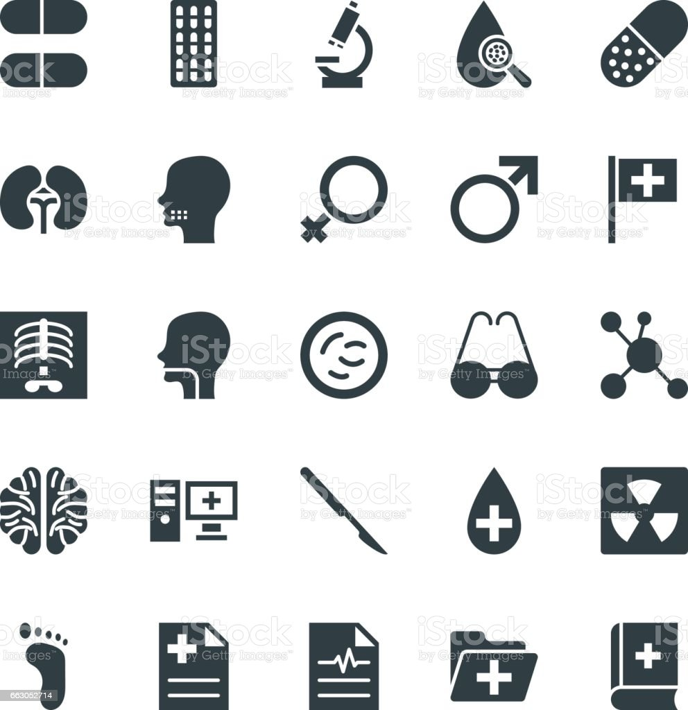 Medical and Health Cool Vector Icons 4 vector art illustration