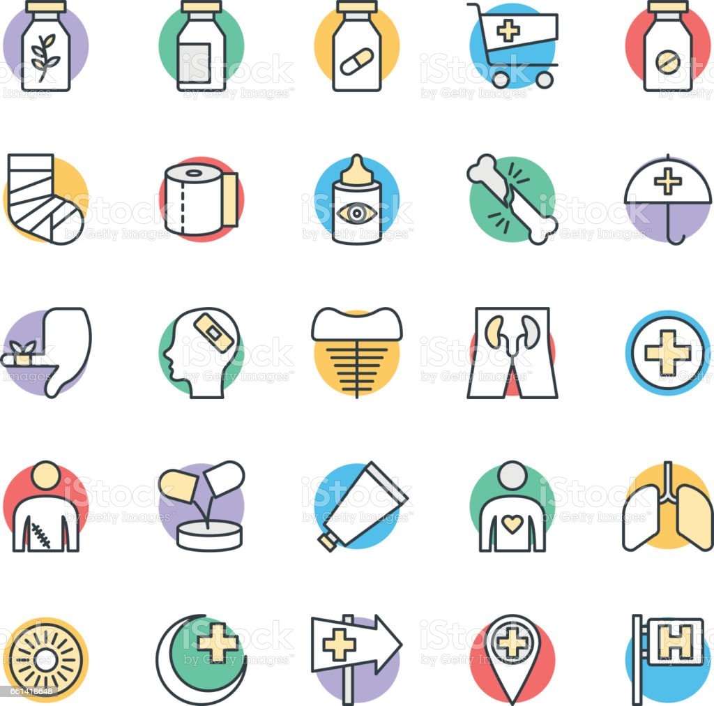 Medical and Health Cool Vector Icons 5 vector art illustration