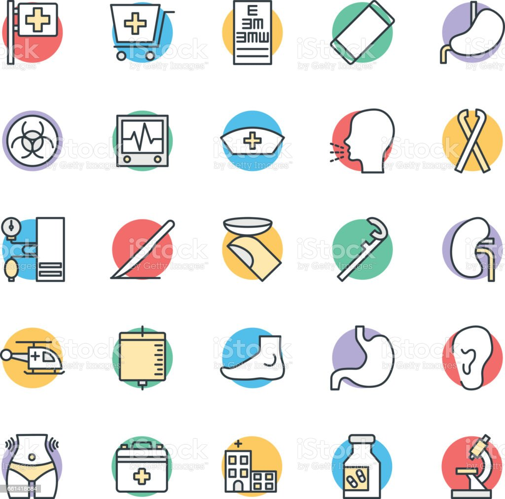 Medical and Health Cool Vector Icons 6 vector art illustration