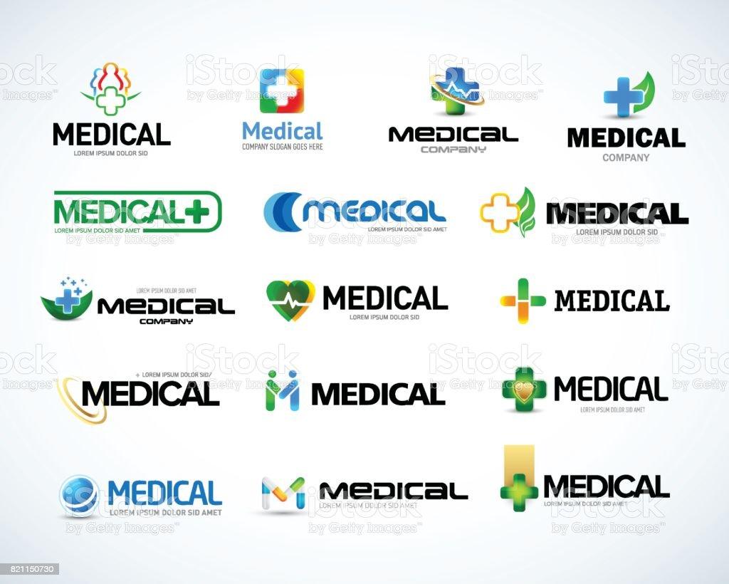 La valeur de modèles de conception emblème médicaux et de santé.  Isolé illustration vectorielle - Illustration vectorielle