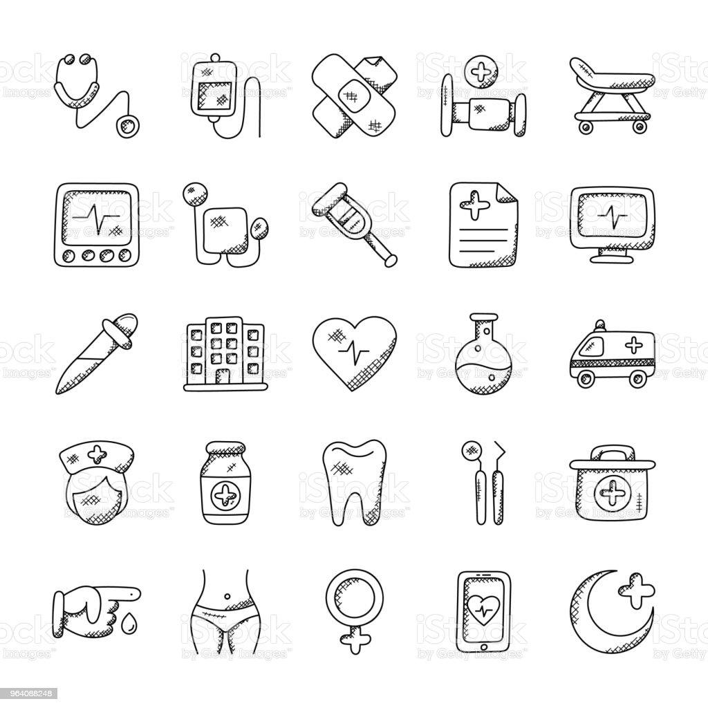 Medical and Health Icons - Royalty-free Ambulance stock vector