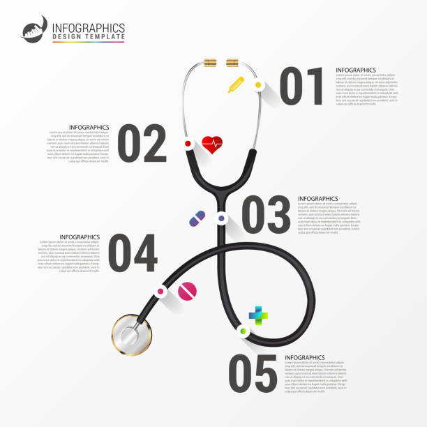 Medical And Health infographics. Modern design template vector art illustration