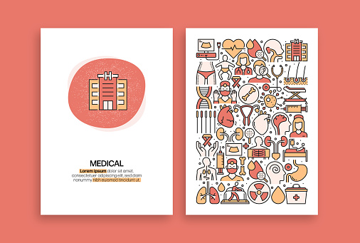 Medical and Health Related Design. Modern Vector Templates for Brochure, Cover, Flyer and Annual Report.