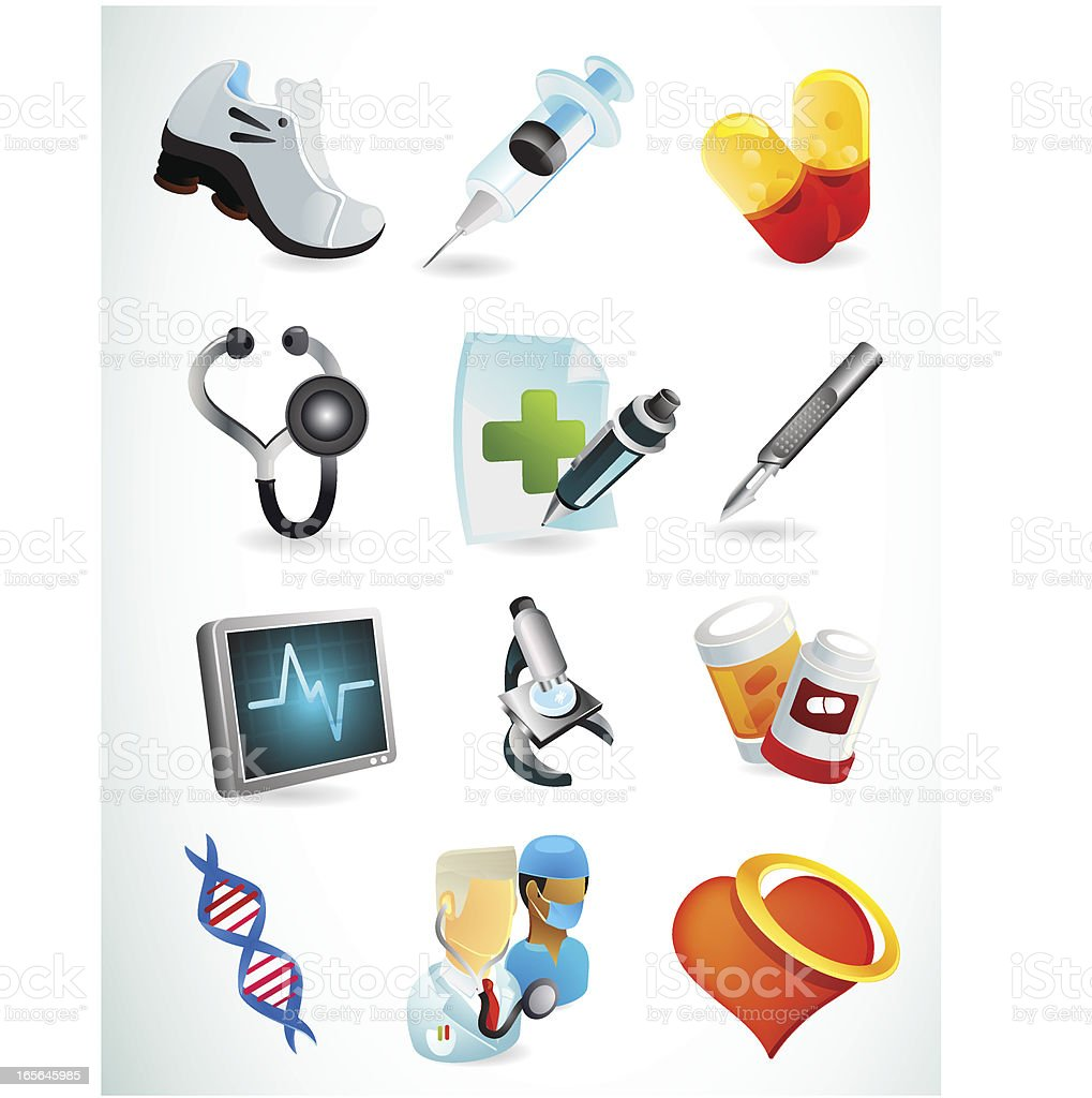 Medical and Health Web Icons royalty-free medical and health web icons stock vector art & more images of accidents and disasters