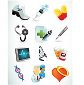 A set of royalty-free vector medical and health icons.  See more of the