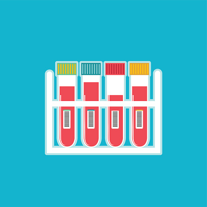 Blood testing stock illustrations