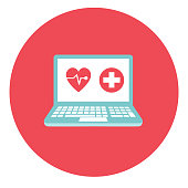Medical And Healthcare Icon In Flat Design Style On Circle Backgrounds
